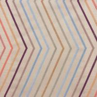 Tresillo Fabric - Viola/Peach/Powder Blue