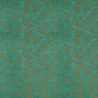 Espinillo Velvet Fabric - Teal/Brass