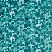 Segments Fabric - Teal/Emerald