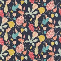 Flavia Fabric - Indigo/Orange/Ruby/Aqua