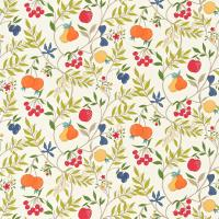 Joelle Fabric - White/Olive/Tangerine/Berry