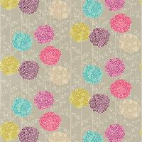 Orsina Fabric - Stone/Berry Red/Pink/Aqua/Zest