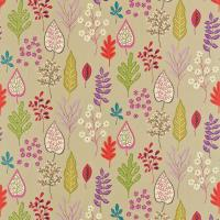 Zosa Fabric - Biscuit/Ruby/Peony/Zest