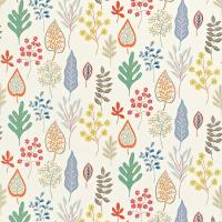 Zosa Fabric - Lily/Tangerine/Seaglass