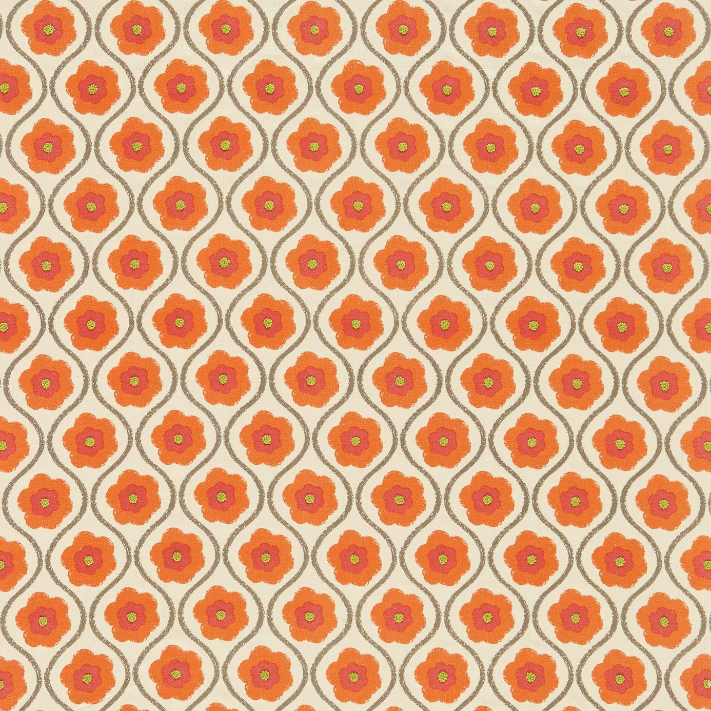Sira Fabric Orange Zest Neutral 130336 Harlequin Folia Fabrics Collection