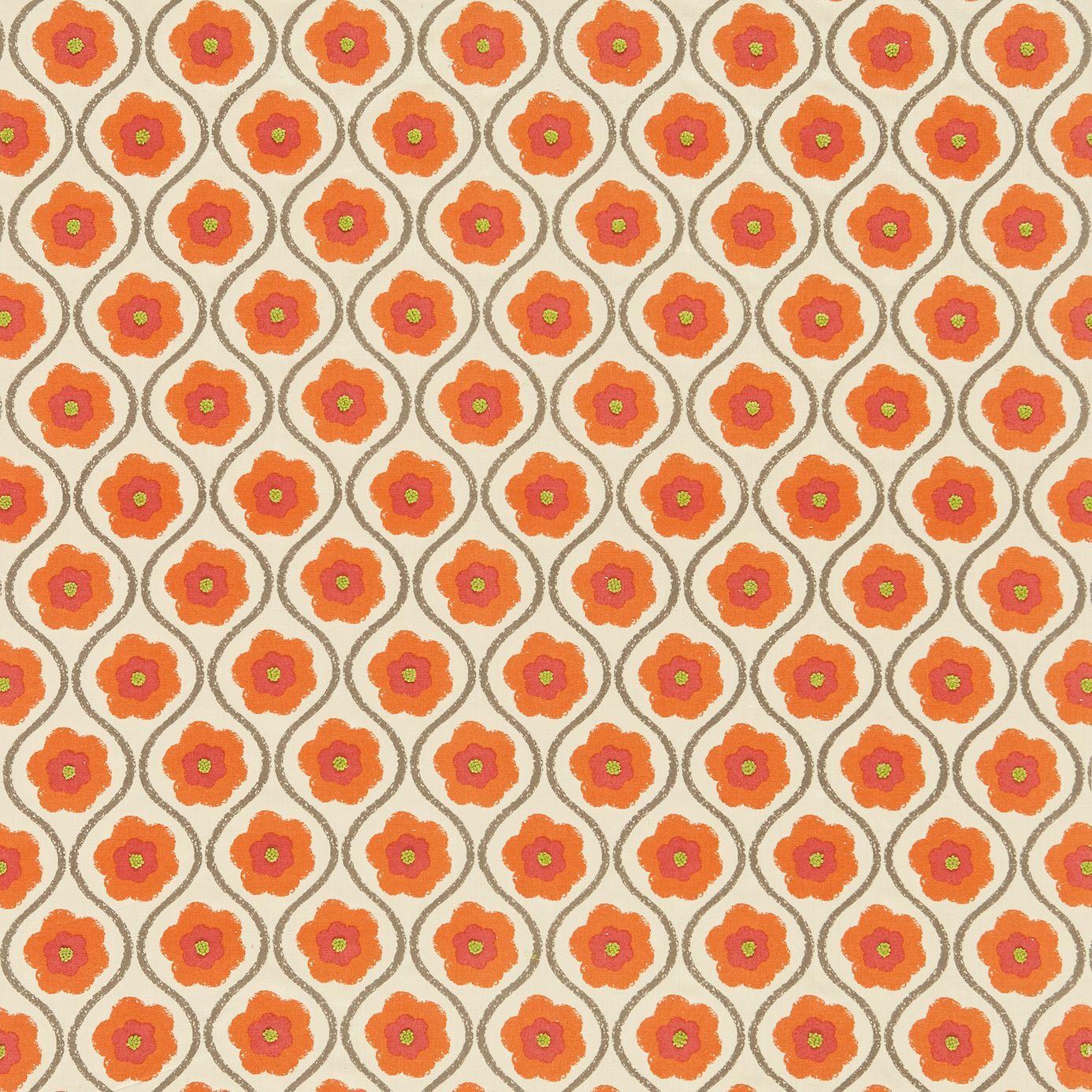 Sira Fabric Orange Zest Neutral 130336 Harlequin