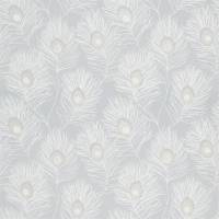 Orlena Fabric - Powder Blue/Gilver
