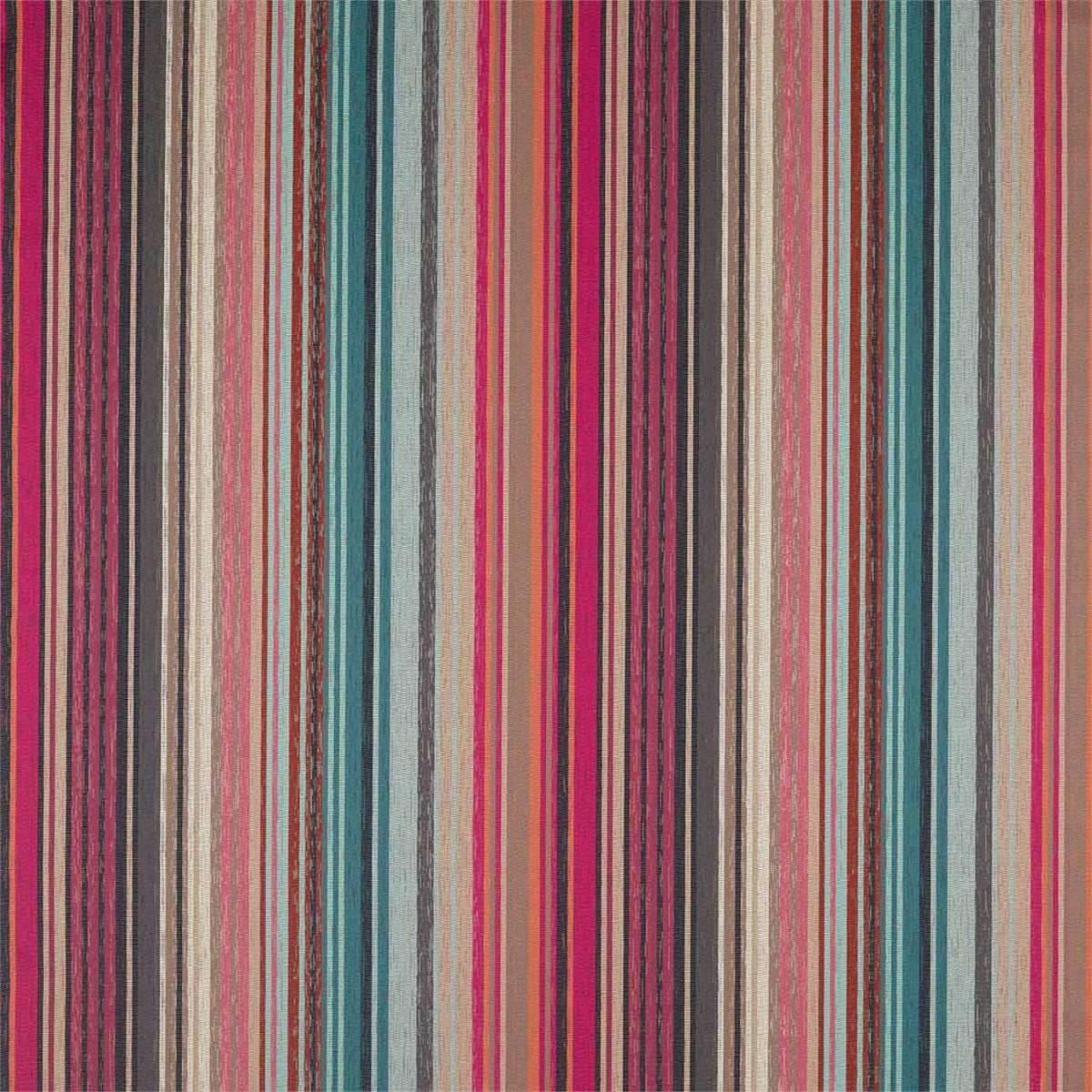 Spectro Stripe Fabric Cerise Marine Coral 132826