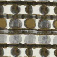 Delphis Fabric - Charcoal / Gold