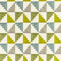 Mehari Fabric - Lime / Harbour / Stone