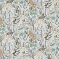 Hide and Seek Fabric - Linen / Duck Egg / Stone