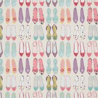 World At Your Feet Fabric - Pebble / Blossom / Sky