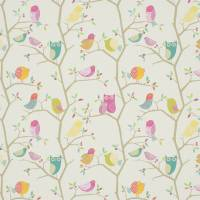 What A Hoot Fabric - Pink / Aquamarine / Lime / Natural