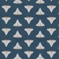 Space Shuttle Fabric - Apricot / Navy