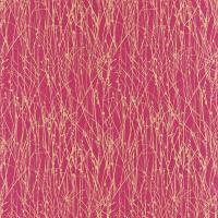 Grasses Fabric - Hot Pink/Gold