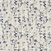 Nettles Fabric - Natural/Midnight/White