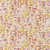 Nettles Fabric - Natural/Tumeric/Magenta