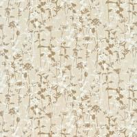 Nettles Fabric - Natural/Mocha/White