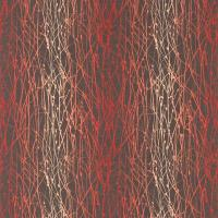 Grasses Fabric - Zinc/Chilli/Coral