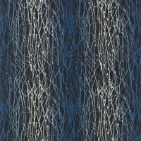 Grasses Fabric - Indigo/Midnight/Steel