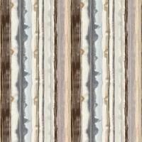 Demeter Stripe Fabric - Peat/Zinc/Neutral