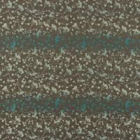 Rue Flower Fabric - Peat/Aqua/Teal