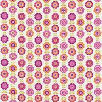Oopsie Daisy Fabric - Pink/Orange/Lime