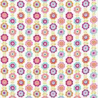 Oopsie Daisy Fabric - Pink/Turquoise/Orange/Lime