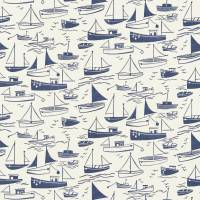 Sail Away Fabric - Navy/Neutral