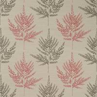 Folium Fabric - Coral/Chocolate