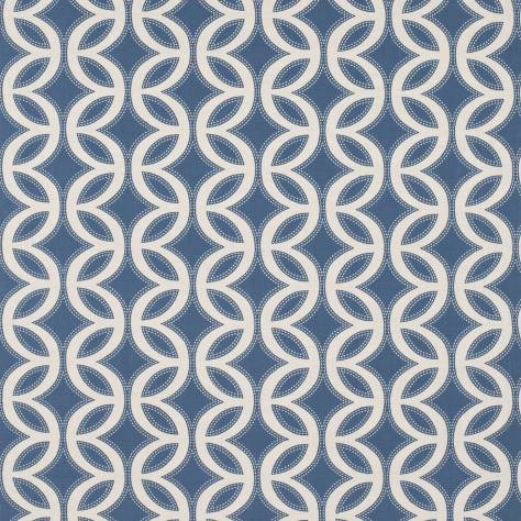 Harlequin Poetica Fabrics  Caprice Fabric -Forget Me Not/Linen - 130898