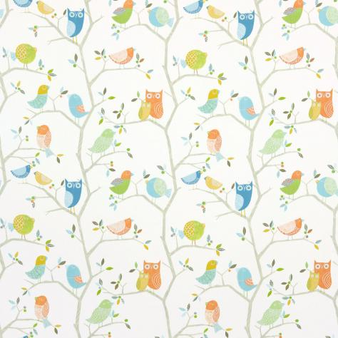 Harlequin What a Hoot Fabrics & Wallpapers What a Hoot Fabric - Aqua/Tangerine/Apple/Natural - 3222