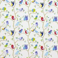 What a Hoot Fabric - Ocean/Aqua/Apple/Strawberry/Natural