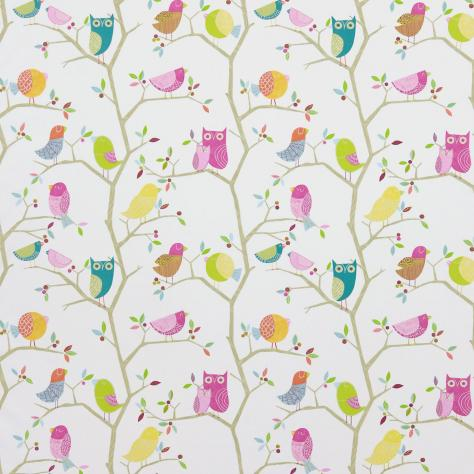 Harlequin What a Hoot Fabrics & Wallpapers What a Hoot Fabric - Pink/Aquamarine/Lime/Natural - 3224