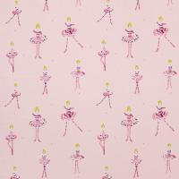 Polly Pirouette Fabric - Fuchsia/Candy Floss/Lemon/Neutral