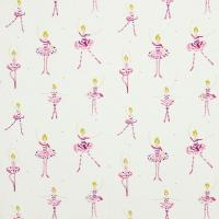 Polly Pirouette Fabric - Fuchsia/Lemon/Sparkle/Neutral