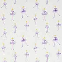 Polly Pirouette Fabric - Purple/Lemon/Sparkle/Neutral