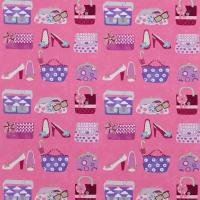 Pick and Mix Fabric - Fuchsia/Lilac/Sky Blue/Sparkle/Lipstick