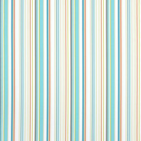 Harlequin What a Hoot Fabrics & Wallpapers Rush Fabric - Aqua/Tangerine/Coffee/Natural - 3246