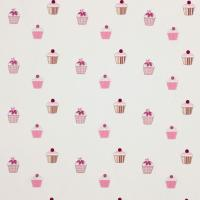 Cupcakes Fabric - Fuchsia/Candy/Lime/Natural