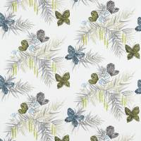 Floret Fabric - Pebble/Seagrass