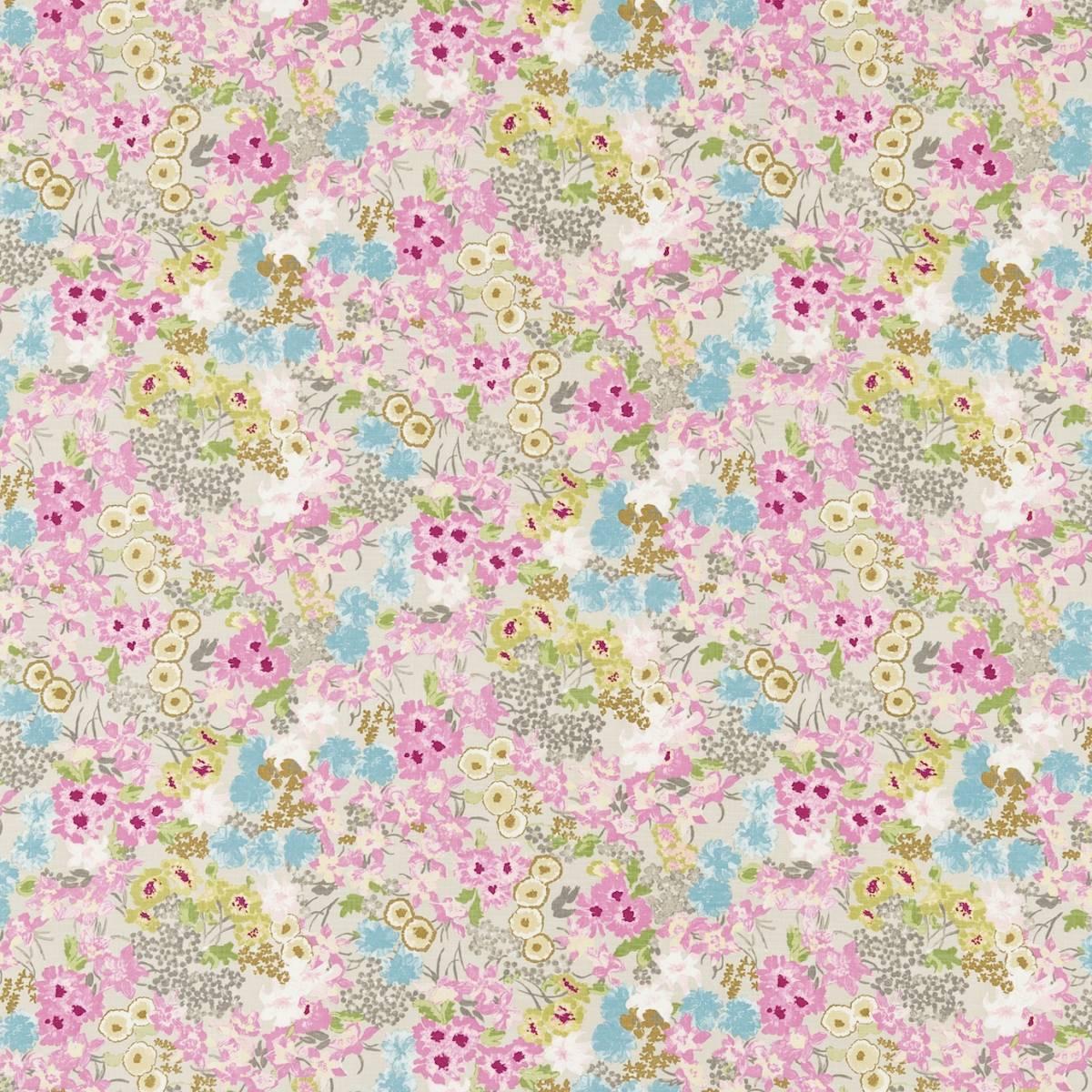 Florica fabric azalea turquoise 120275 harlequin for Decoration jardin boheme