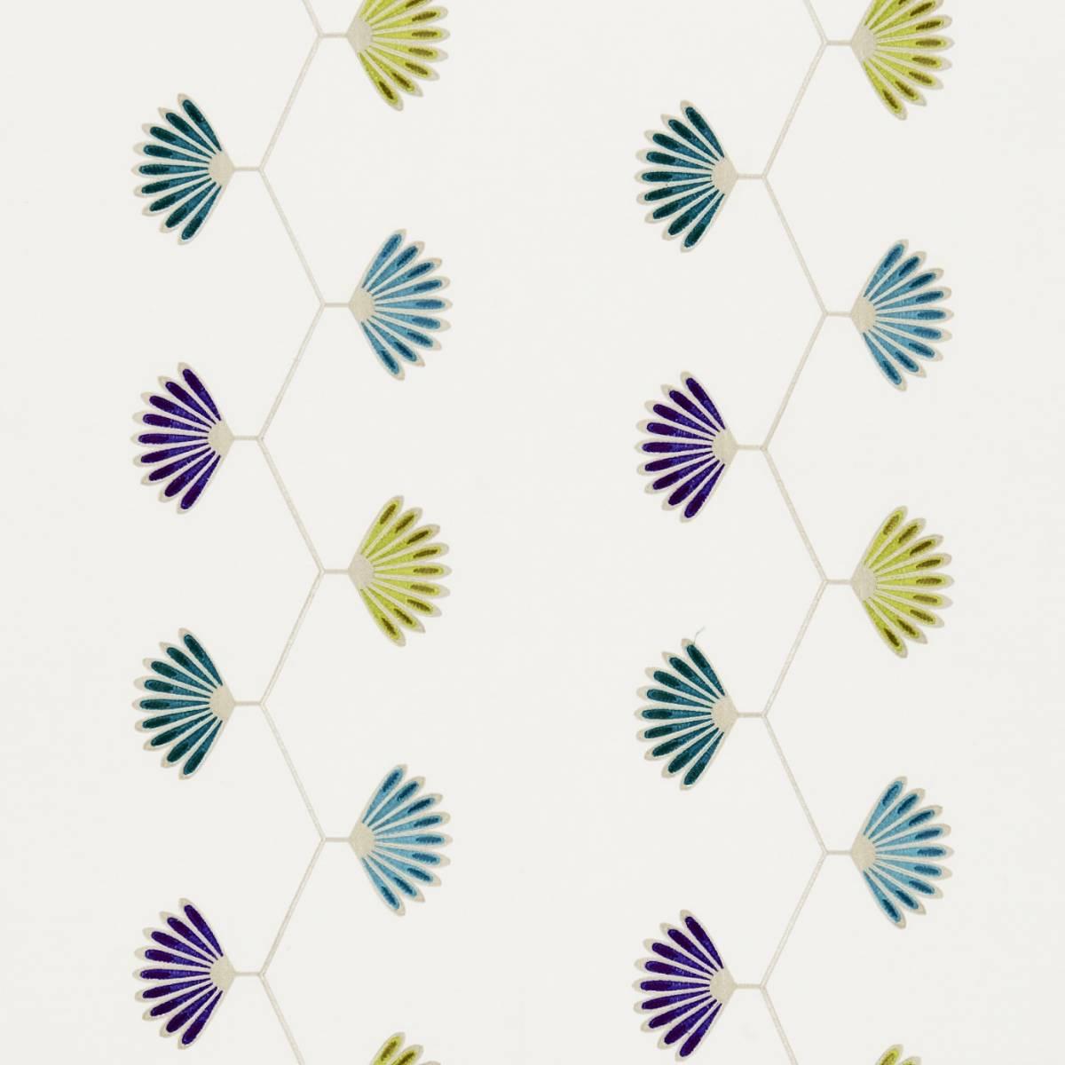 Mirella fabric indigo chartreuse 131066 harlequin for Decoration jardin boheme