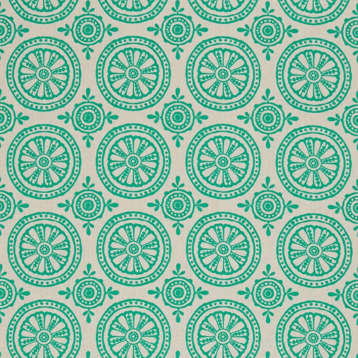 Cheree fabric emerald linen 131071 harlequin jardin for Decoration jardin boheme