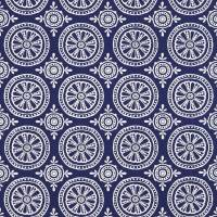 Cheree Fabric - Indigo/Chalk