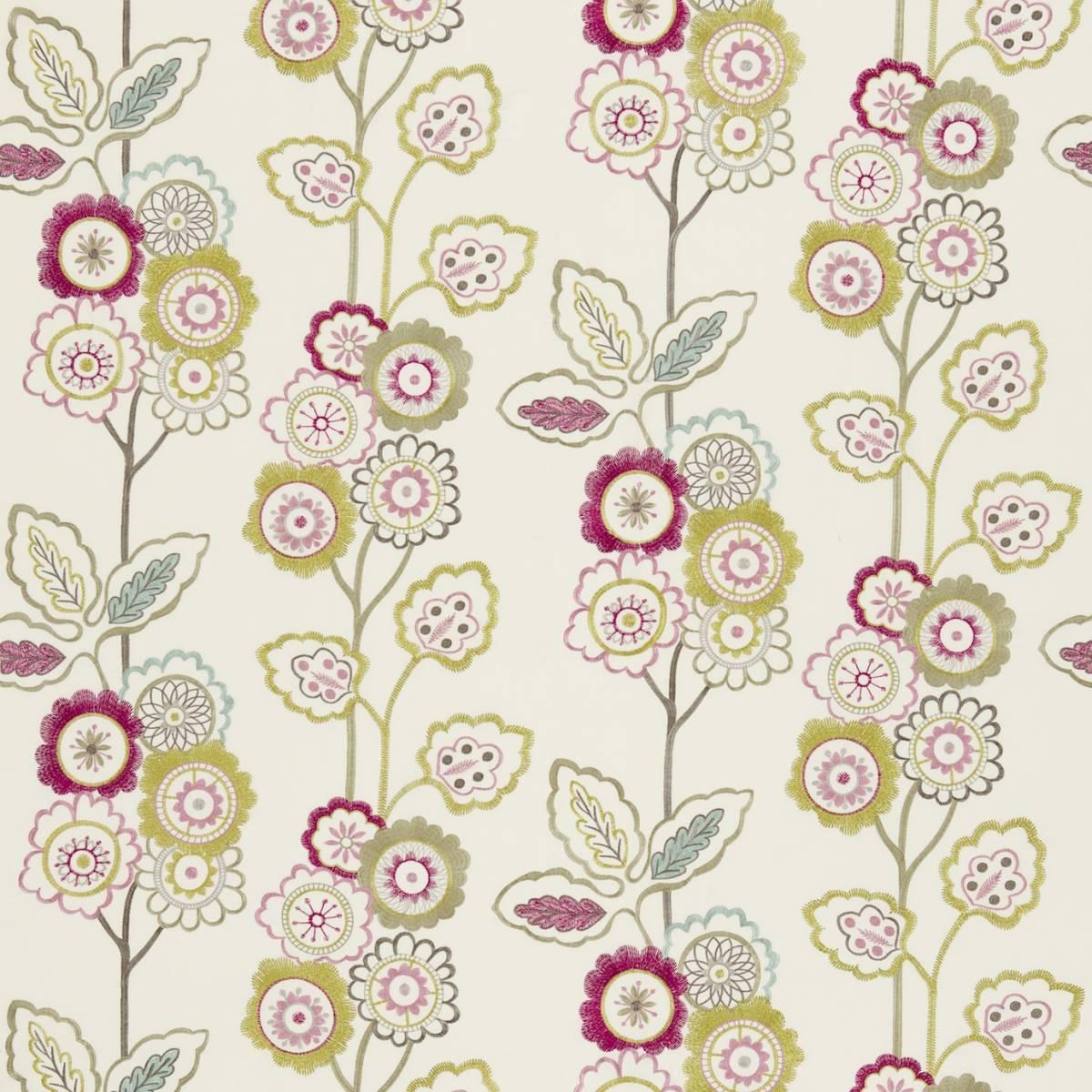 Eden fabric azalea lemongrass 131086 harlequin for Decoration jardin boheme
