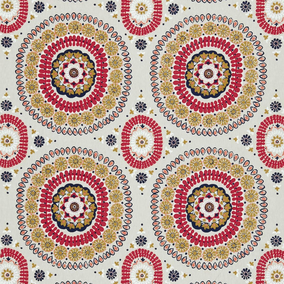 Boheme fabric coral sapphire 131087 harlequin jardin for Decoration jardin boheme