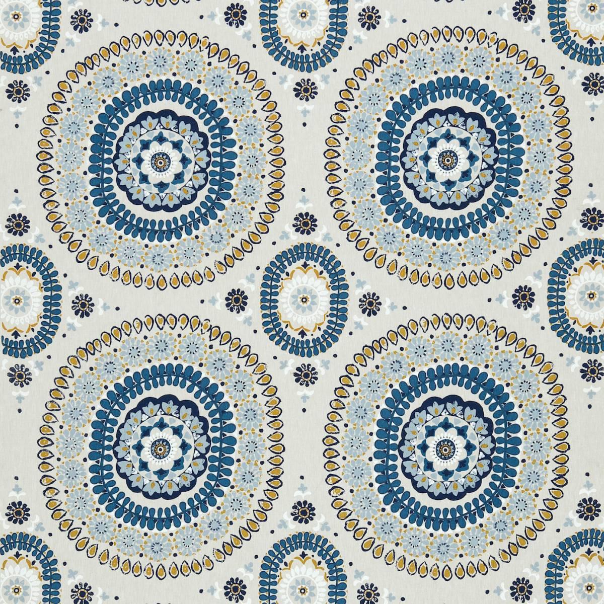 Boheme fabric indigo amber 131088 harlequin jardin for Decoration jardin boheme