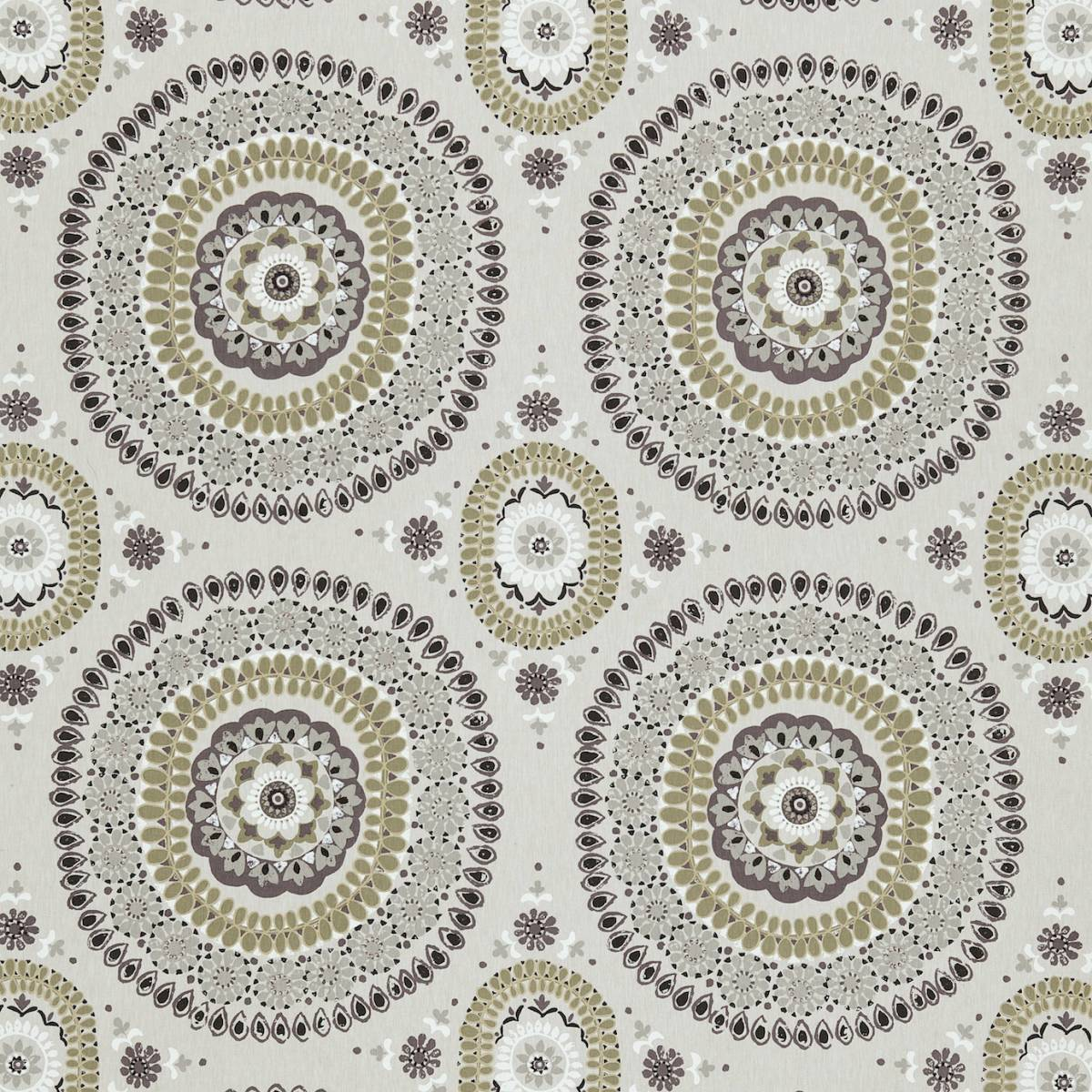Boheme Fabric - Ochre/Slate (131090) - Harlequin Jardin Boheme Fabrics Collection