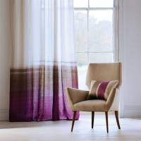 Tranquil Fabric - Walnut/Magenta